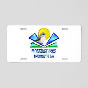 Mockingbirds Brighten the D Aluminum License Plate