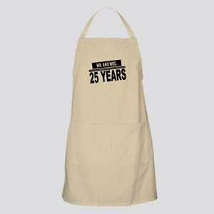 Mr. And Mrs. 25 Years Apron