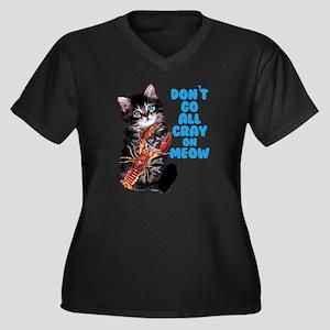 Don't Go All Women's Plus Size V-Neck Dark T-Shirt