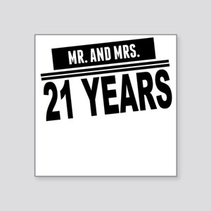 Mr. And Mrs. 21 Years Sticker