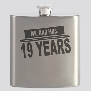 Mr. And Mrs. 19 Years Flask