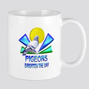 Pigeons Brighten the Day Mug