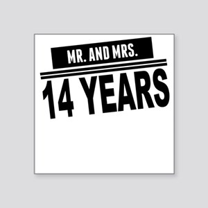 Mr. And Mrs. 14 Years Sticker