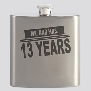 Mr. And Mrs. 13 Years Flask