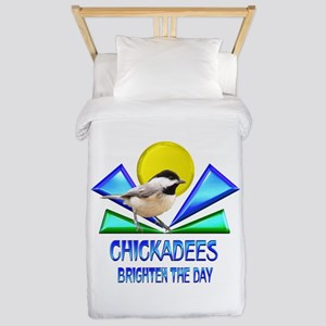 Chickadees Brighten the Day Twin Duvet