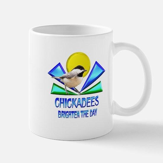 Chickadees Brighten the Day Mug
