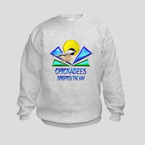 Chickadees Brighten the Day Kids Sweatshirt