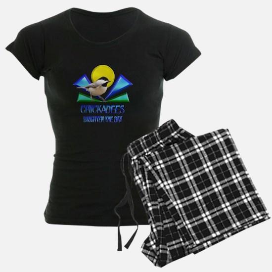 Chickadees Brighten the Day Pajamas
