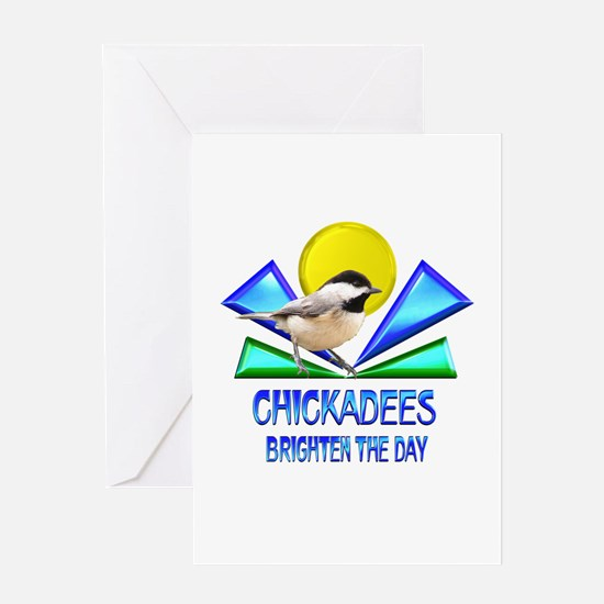 Chickadees Brighten the Day Greeting Card