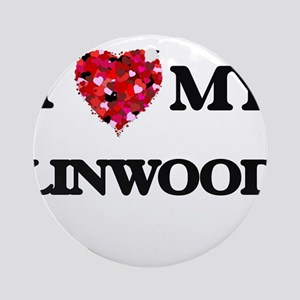 I love my Linwood Ornament (Round)