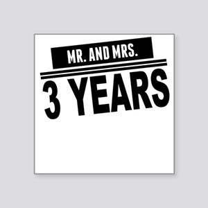 Mr. And Mrs. 3 Years Sticker