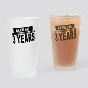 Mr. And Mrs. 3 Years Drinking Glass