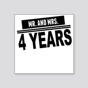 Mr. And Mrs. 4 Years Sticker