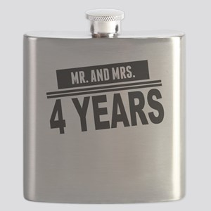 Mr. And Mrs. 4 Years Flask
