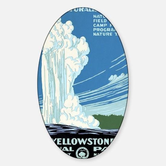 Ranger Naturalist Service Yellowsto Sticker (Oval)