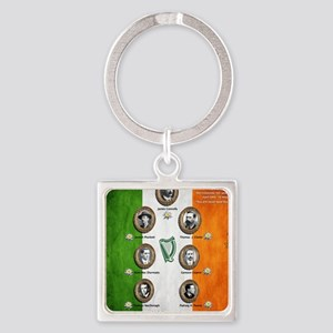 The rising 1916 Square Keychain
