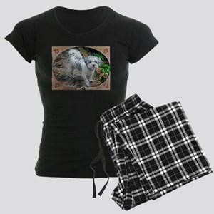 CUTE SHIH TZU BICHON PUPPY Women's Dark Pajamas