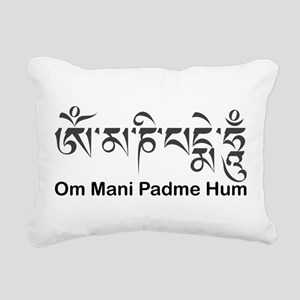 Om Mani Padme Hum Rectangular Canvas Pillow