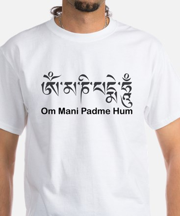 Om Mani Padme Hum Men's White T-Shirt