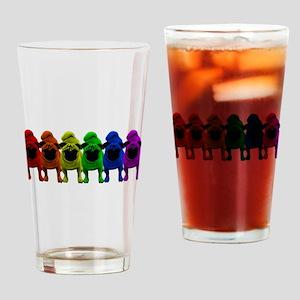 Rainbow Pride Pugs Drinking Glass