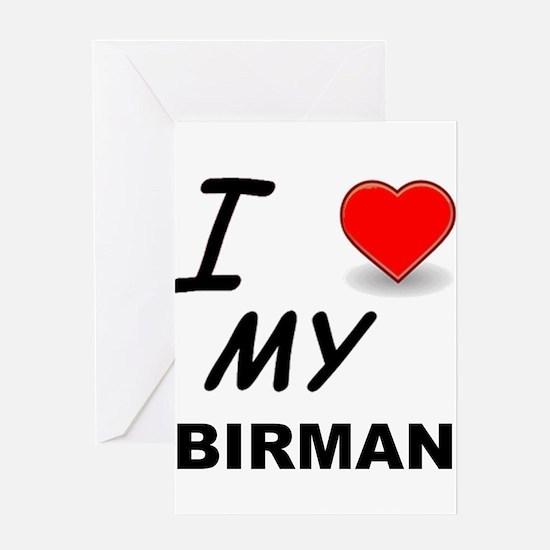 birman love Greeting Cards