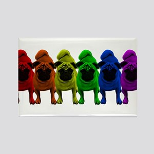Rainbow Pride Pugs Magnets