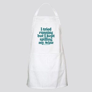 Tried Running Spilled Wine Apron