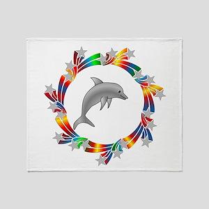 Dolphin Stars Throw Blanket