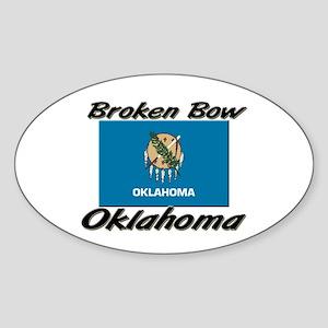 Broken Bow Oklahoma Oval Sticker