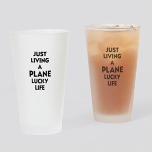 Plane Lucky Life Drinking Glass