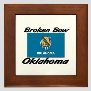 Broken Bow Oklahoma Framed Tile