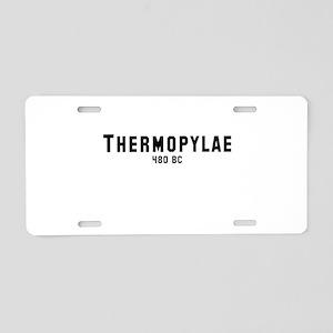 Thermopylae Aluminum License Plate