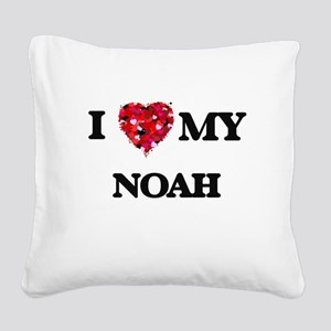 I love my Noah Square Canvas Pillow