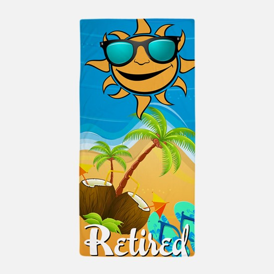 Retired Tropical Beach Towel