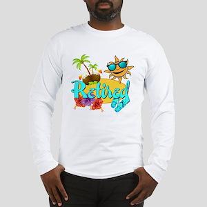 Retired Beach Long Sleeve T-Shirt
