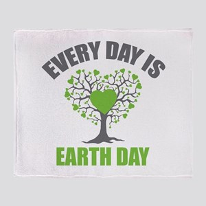 Every Day Earth Day Throw Blanket
