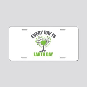 Every Day Earth Day Aluminum License Plate