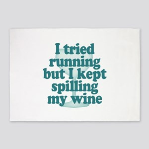 Tried Running Spilled Wine 5'x7'Area Rug