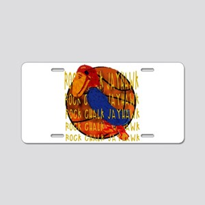 Rock Chalk Jayhawk Basketball Aluminum License Pla