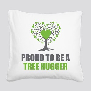 Tree Hugger Square Canvas Pillow
