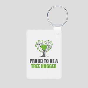Tree Hugger Aluminum Photo Keychain