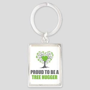 Tree Hugger Portrait Keychain