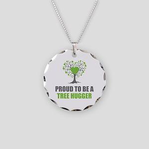 Tree Hugger Necklace Circle Charm