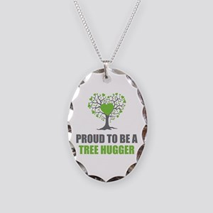 Tree Hugger Necklace Oval Charm