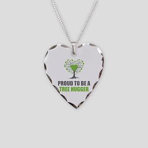 Tree Hugger Necklace Heart Charm