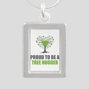 Tree Hugger Silver Portrait Necklace