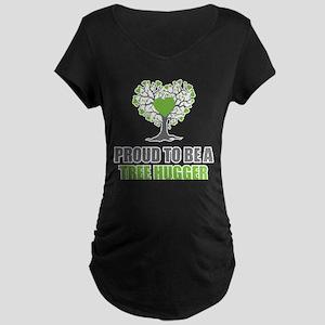 Tree Hugger Maternity Dark T-Shirt