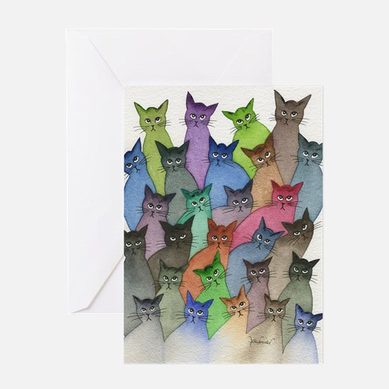 Saint Paul Stray Cats Greeting Cards