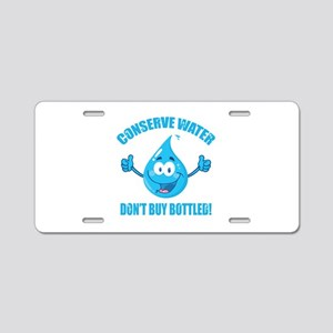Conserve Water Aluminum License Plate