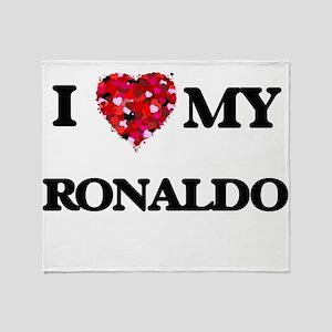 I love my Ronaldo Throw Blanket